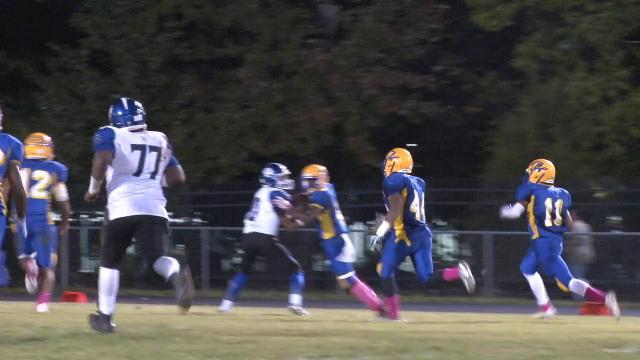 Addison returns fumble 55 yards to endzone