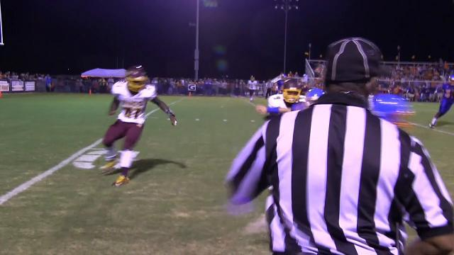 Delmar's Trey Parsons with a interception