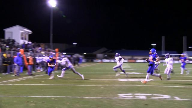 Delmar's Trey Parsons with a one handed catch