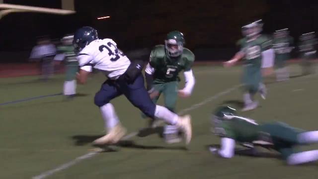 Friends' McNeill spins around defender for touchdown