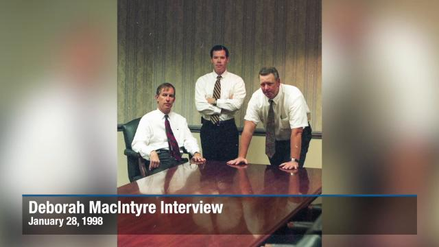 Evidence: Authorities interview Deborah MacIntyre