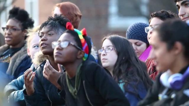 University of Delaware students spoke out against hateful messages from the Key of David Christian Center Wednesday at the UD Campus.