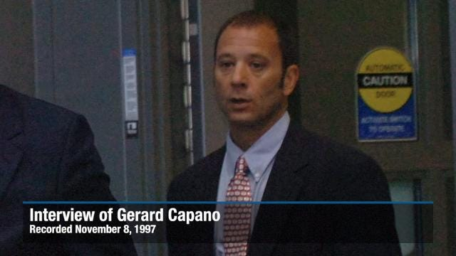 Gerard Capano, brother of Tom Capano, speaks with authorities on November 8, 1997.