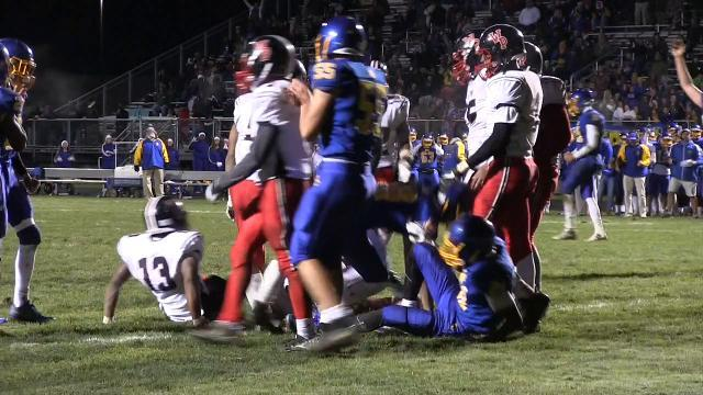 Sussex Central's Drew Morris with a touchdown run