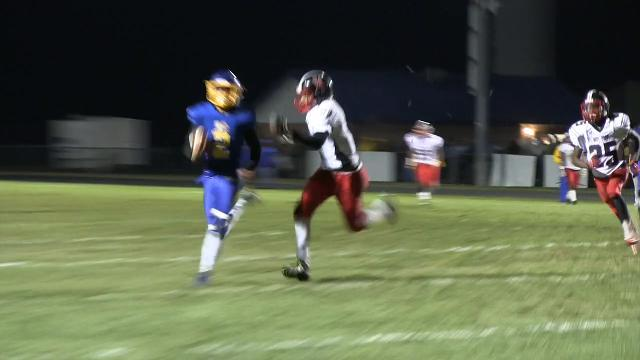 50 yard pass play gives Sussex Central a first down