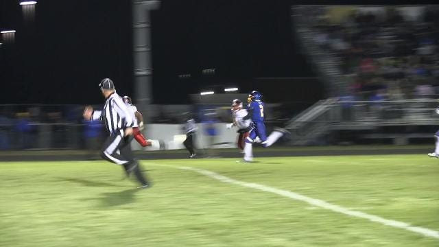 William Penn's Isaiah Gaynor with a touchdown run against Sussex Central