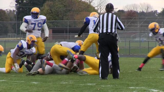 Caesar Rodney's Jackson Rall with a fumble recovery