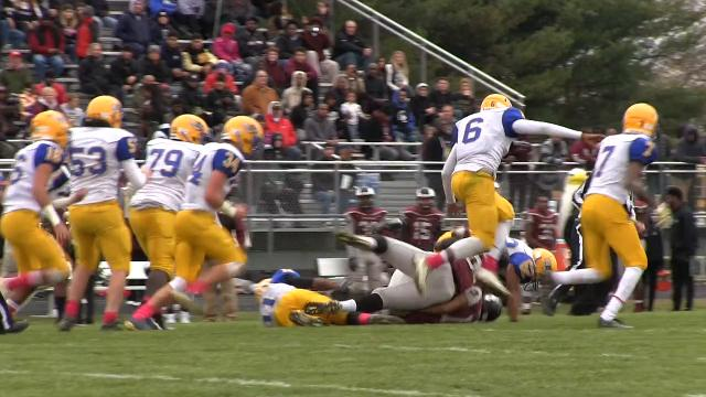 Caesar Rodney's Brenden Holder with a fumble recovery