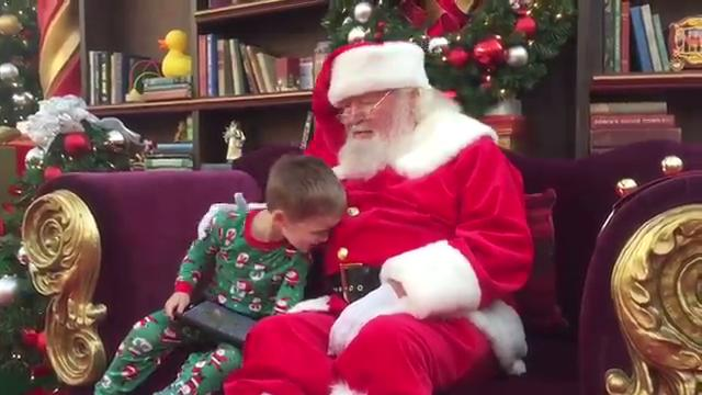 Maddox Brown, a 4-year-old wifh Autism, got to meet Santa Claus Sunday morning at a special event in Christiana Mall.