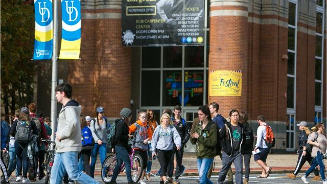 Both the University of Delaware and Delaware State University have record enrollment this year despite the fact that nationally, college enrollment is down for the fifth straight year.