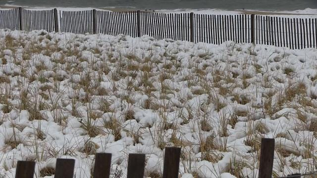 Raw video: snow fall at Rehoboth Beach