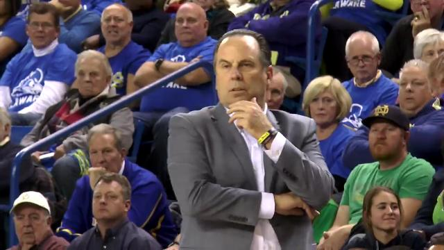 Mike Brey's return to Delaware as Notre Dame head coach had an impact on both sides of the court. For Delaware's Martin Ingelsby, it was a chance to compete against his mentor on a big stage.
