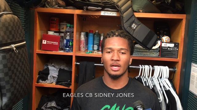 Sidney Jones' first Eagles' practice