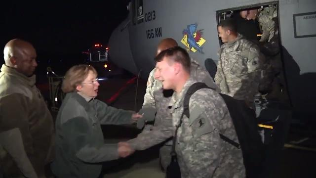 A team of 36 Soldiers from the Delaware National Guard returned home after helping in hurricane relief efforts in Puerto Rico.  12/15/17
