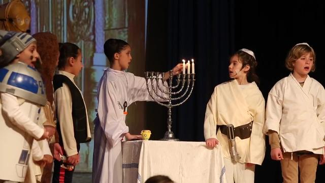 """Star (of Judah) Wars"" production at Albert Einstein Academy shows students the story of a band of rebels fighting against imperial oppression. It's Star Wars remixed with the Maccabees."