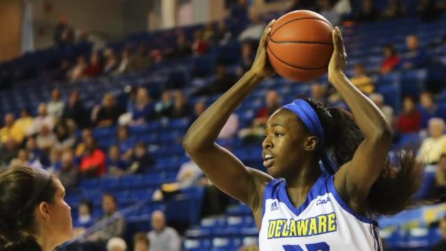 Enabosi sets Delaware record for consecutive double doubles