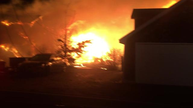 Raw video: Slaughter Beach fire on Christmas