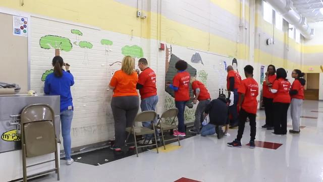 MLK day of service project brightens up Jones Elementary