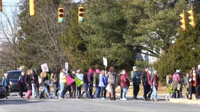 Newark marchers join women worldwide