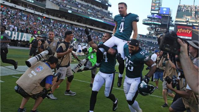From a chance opportunity, Eagles kicker set to break more records