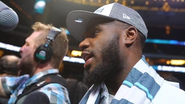 Smallwood enjoying time with fans, the Super Bowl experience
