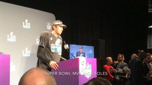 Super Bowl champion Eagles' postgame celebration