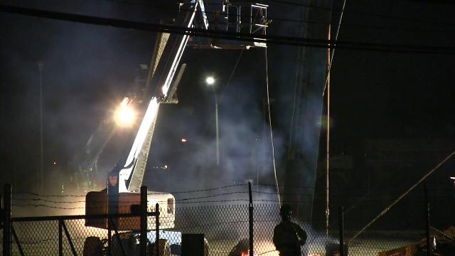 Water tower demolition at former Playtex site in Dover