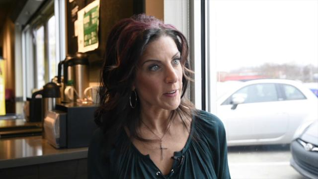 Yolanda Schlabach, executive director of Zo Ministries Inc., talks in February 2018 about human trafficking in Delaware.