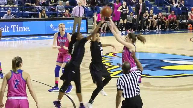 A three-pointer would have tied Delaware's game against league leader James Madison, but the Dukes got a hand on Bailey Cargo's shot with seconds to play and secured their 56-53 win, their 11th straight overall against the Blue Hens Friday.