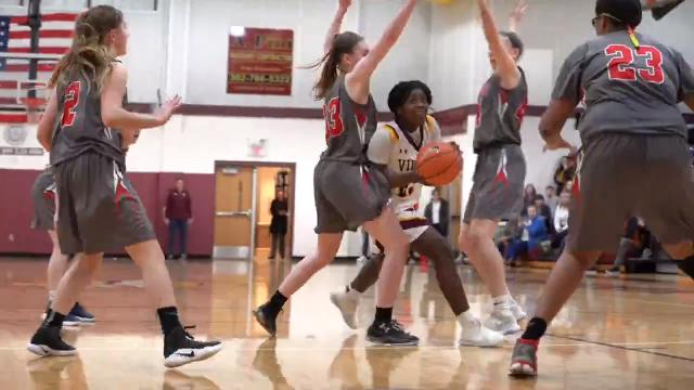 St. Elizabeth girls basketball team wins a nail-biter as their guard Ber' Nyah Ward-Mayo, sinks the winning basket with a final score of 55-53.