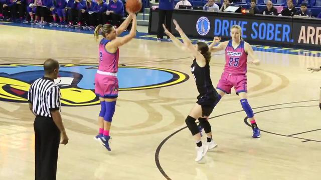 """Delaware went toe-to-toe with league-best James Madison and came up short, but team members drew confidence from their showing. """"We competed,"""" coach Natasha Adair said. """"This felt like March Madness already."""""""