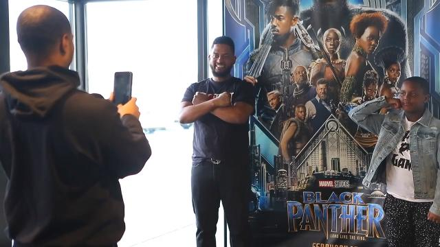 """Cleveland Browns cornerback Briean Boddy-Calhoun partnered with local nonprofit Project New Start to help 300 people get a chance to see """"Black Panther"""" in Wilmington."""