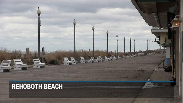 Windy weather arrives to the Delaware beaches