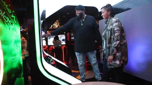 The opening night at the new Main Event entertainment facility at the Christiana Fashion Center drew large crowds despite the unfavorable weather.