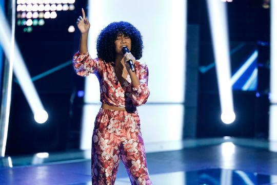 """Kelsea Johnson, 22, of Newark, has made it through the blind auditions in the 14th season of """"The Voice"""" on NBC."""