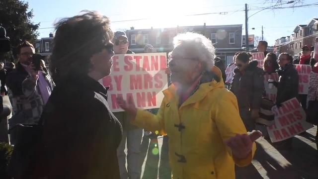 A protest was held in support of Cindy Mann who was removed from her position as Head of School of Padua Academy.