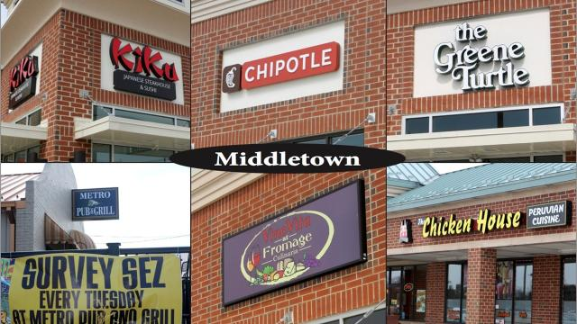 For the past decade or more, sleepy little Middletown has grown up and is one of the fastest-growing towns in the state. With that growth has been the influx of plenty of restaurants.