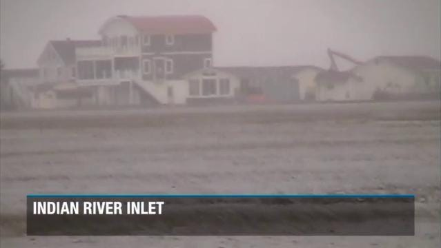 Raw video: Delaware beaches feeling the effects of nor'easter