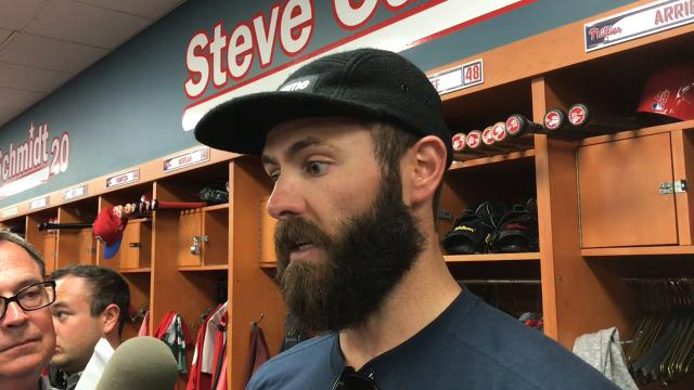 Jake Arrieta and Phillies manager Gabe Kapler on Arrieta's first outing.
