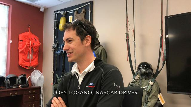 NASCAR's Joey Logano talks about his visit to Dover Air Force Base.