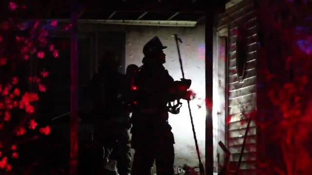 Neighbors say bystanders pulled a man from a burning home near Newark just before firefighters arrived in Roseville Park Thursday about 8 p.m.  4/13/18