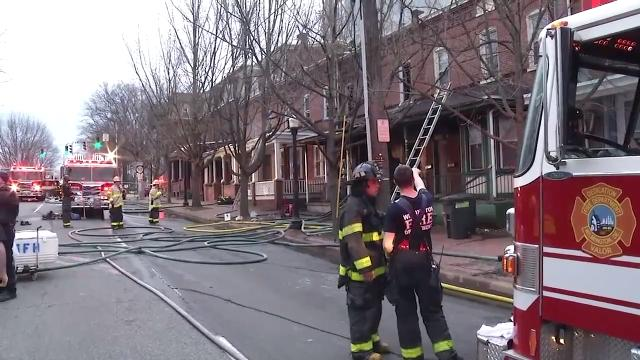 A fire Friday morning on Adams St. in Wilmington caused problems for motorists.  4/13/18
