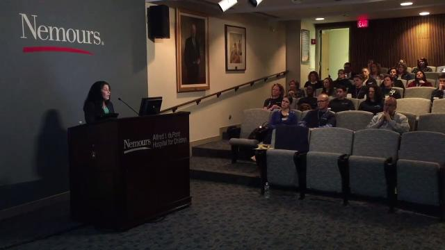 A talk at the Nemours/Alfred I. duPont Hospital for Children Wednesday morning hoped to teach pediatricians on how spot abuse or neglect.  4/18/18