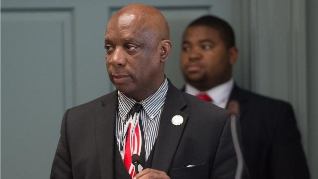 A Delaware legislator used his position on the floor of the state House of Representatives to air grievances about two judges who ruled against him in a personal matter.