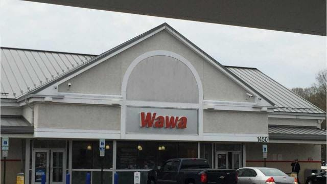 A 34-year-old woman threw hot coffee and pepper sprayed employees for a wrong order Wednesday at the 1450 Forrest Avenue Wawa.