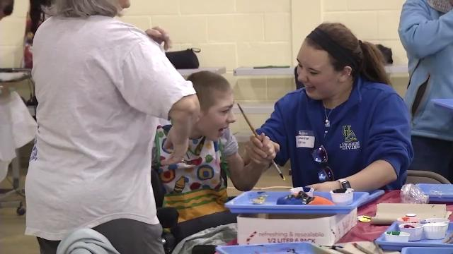 People of all ages with physical, developmental and intellectual disabilities got a helping hand with art this weekend at the annual Artfest.  4/23/18