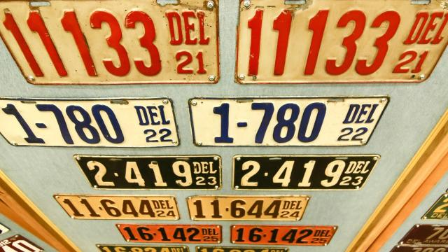 Delaware vehicle registration laws have allowed low number tags to be passed down like a family heirloom leading to a collectible secondary market.  8/21/18