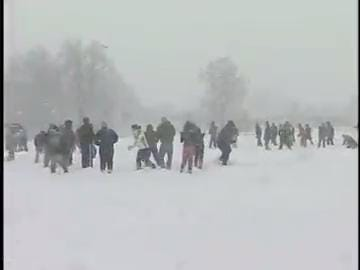 Students at University of Delaware enjoyed a snowball fight.  Originally aired 2/11/10
