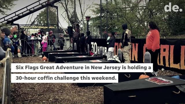 Bear Man To Spend 30 Hours In A Coffin For Six Flags Great Adventure Fright Fest Contest