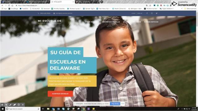 Una organización local sin fines de lucro que trabaja para fortalecer el sistema educativo de Delaware ha lanzado un sitio de web en Español para ayudar a las familias Hispanas a entender y navegar sus opciones en la elección escolar.
